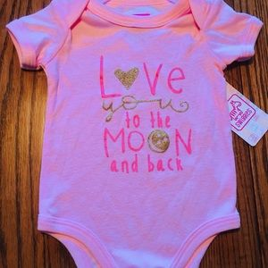 🍼BNWT Baby Girl Onesie Pink ❤️U to the Moon &Back